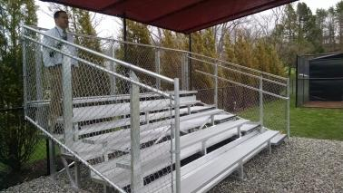 Aluminum Field Sports Bleachers