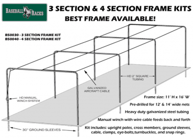 Batting Cage Tunnel Frame