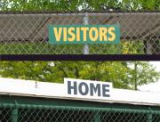 Home and Visitor Team Dugout Signs