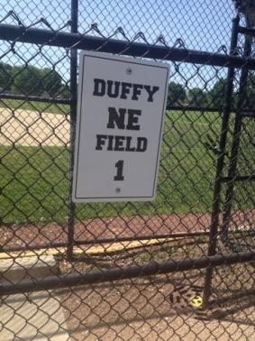 Basic Baseball Field Sign