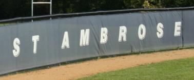 St. Ambrose College Windscreen Example