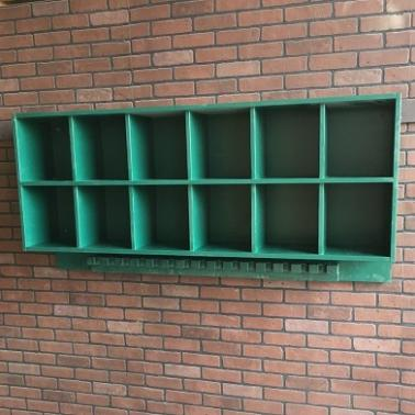 Baseball Helmet rack, bat rack, dugout storage