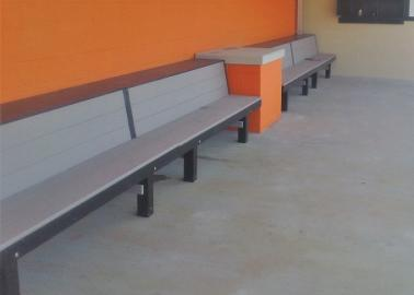 All Wood Custom Dugout Benches