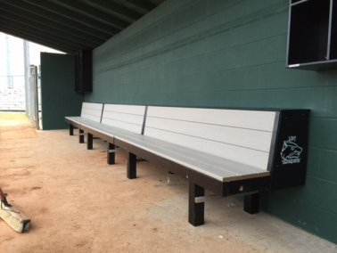 All Wood Bench for Dugouts