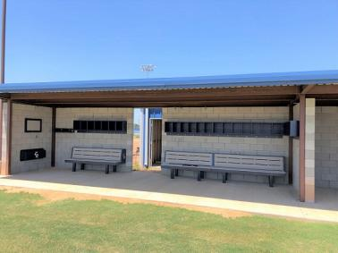 dugout bench, sports bench, dugout storage