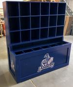 helmet bat dugout storage unit,