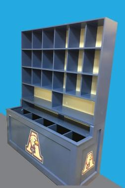 24 Cubby rack with 2 large compartments for catchers