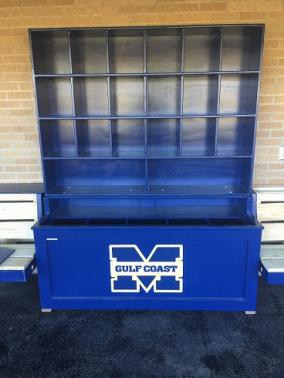 helmet storage cubbies