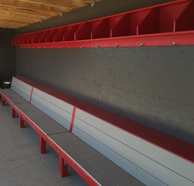 Overhead storage space for dugouts