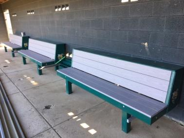 Brilliant Eagle Bench Baseball Dugout Benches Pyt Sports Ocoug Best Dining Table And Chair Ideas Images Ocougorg