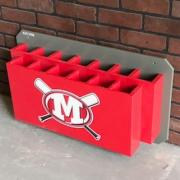 dugout bat rack, bat holder
