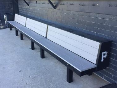 Softball bench, baseball bench,