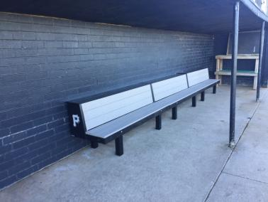 prostyle bench, mlb style dugout
