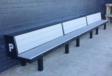two tiered dugout bench, elite bench