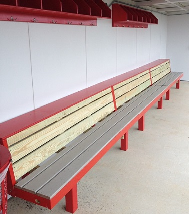 Falcon Bench | 2 Tier Benches for Baseball Dugouts - PYT Sports