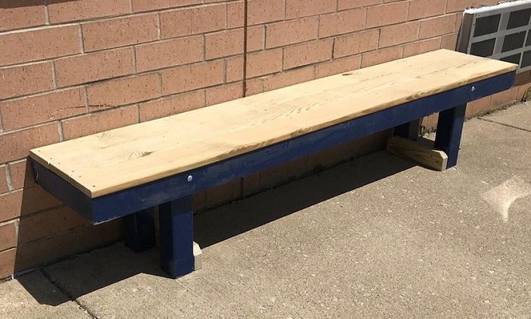 Super Players Bench Wood Bench For Baseball Dugout Pyt Sports Beatyapartments Chair Design Images Beatyapartmentscom